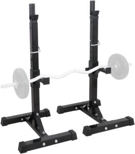 Smartxchoices Barbell Adjustable Squat Rack