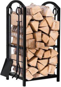Amagabeli Fireplace Log Rack