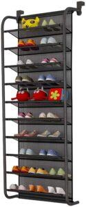 KUO 10-Tier Over The Door Shoe Organizer Hanging Shoe Storage