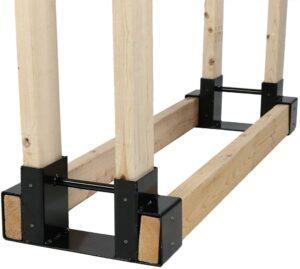 Sunnydaze Décor Outdoor and Indoor Firewood Log Rack Bracket Kit