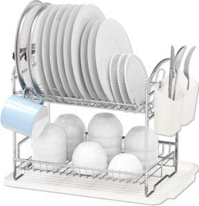 Simple Houseware 2-Tier Dish Rack