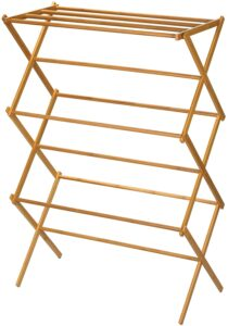 Household Essentials 6524  Wooden Clothes Drying Rack