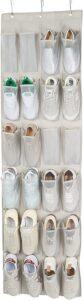 AmazonBasics 24-Pocket Over-the-Door Hanging Medium-Size Shoe Organizer