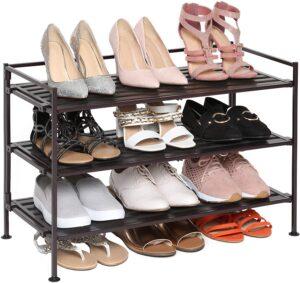 Seville Classics 3-Tier Stackable Shoe Rack